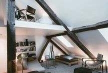 Prague studios / Mansards and attics. Loft style