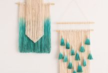 Diy / Weaving, diy, decoration, art, how to, dye, hand done.