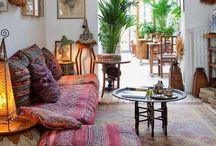 Spanish villa / Modern boho interior style