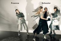 Fall 2015 Ad Campaign / Photographer: David Sims Art Director: Peter Miles Models: Anne Catherine Lacroix, Karolin Wolter, Liisa Winkler and Liya Kebede Stylist: Marie Chaix Hair Stylist: Akki Makeup Artist: Lucia Pieroni Manicurist: Megumi