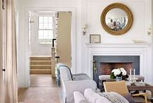 Fireplaces + Mantels / Beautiful fireplaces, fireplace makeovers, ideas for decorating mantels and more...