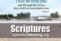 Inspirational Bible Verses / Encouraging scriptures to inspire and motivate, bless others and develop a spirit of gratitude. Popular Bible verses sharing God's blessings and God's love, encouraging others to join a community that focuses on giving back and helping those in need. Encouraging Bible verses for friends, family and church groups or Bible studies. Operation Blessing brings humanitarian aid to those in need around the world. Together we can make a difference.