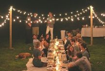 Outdoor parties / Party, outdoor, dining outside, outdoor dining, pallet tables, flowers, table arrangement, place setting, garden parties, outdoorsy, place settings, flowers, out door movie theater, outdoor home theatre, outdoor decoration, outdoor decorating, outdoor table arrangements, succulent, succulents