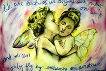 Angel Art Paintings, Pictures, Crafts, & More / Pictures of guardian angel art images including paintings, craft ideas, and gifts of angels.