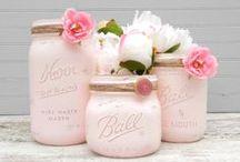 Mason Jars / Beautiful ideas to decorate mason jars.