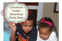 The Annual Christmas Cookie Party Board / Every year my son and I host a cookie decorating party for his friends and we are constantly looking for new ideas especially now that his sister will be joining with her friends. This is a letter to Santa via cookies!  / by Mary Johnson