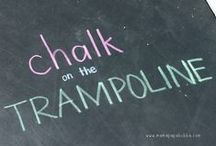 Chalk It Up to Fun / An amazing collection of chalk fun, crafts, activities, and ideas for kids!