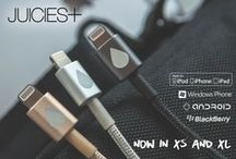 JUICIES+ XS & XL - Premium USB Cables for iPhone & Android / The perfect cable! Aluminum Housing. Tangle Free Woven Cord. Apple Certified. Durable and Dirt Proof. Now in extra Short & extra Long!