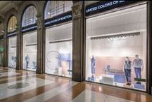 """A TRIBUTE TO DOMUS / Color, innovation, experimentation. This is our """"open gallery"""", which has been created for the flagship store in Milan's Duomo Square alongside Fabrica and the best of Italian design to celebrate the 1000th edition of Domus magazine. / by United Colors of Benetton"""