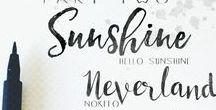 LETTERING | Rescources, Tips & Tricks / #handlettering #brushlettering #lettering #diy