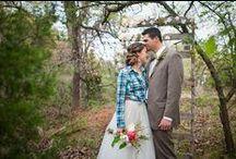 DIY styled wedding shoot / DYI ideas for a rustic, woodsy wedding