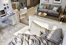 Small Space Living / Boats, tiny houses, studios and other inspo for tiny space living.