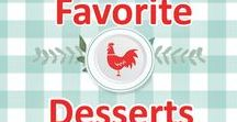 My Personal Favorite Desserts / favorite, best, fave, dessert, desserts, recipe, recipes, cake, pie, cookies, southern, plate, icing, easy, simple, heritage, vintage