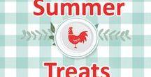 Yummy Summer Treats / summer, hot, treats, treat, dessert, drink, popsicle, ice cream, frozen, freezer, recipe, recipes, watermelon, bananas, easy, simple