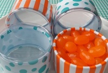Orange & Aqua - SHOWER / Ideas and resources for baby shower / by LBV Weddings