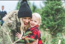 Holiday Family Photos / Winter and Christmas Inspired Family and Maternity Photos