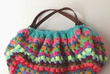 crochet + knit: bags / totes + bags + clutches / by tichtach