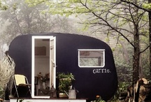 Glamping / I love everything including a tent and a fire in the nature