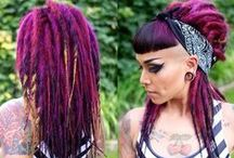 Rainbow hair / In all different shapes and sizes and colors