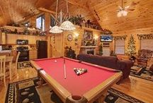 Gatlinburg Luxury Cabins / Luxury cabins for rent in Gatlinburg, TN, in the Smoky Mountains, complete with luxury amenities from hot tub on the porch to large group game rooms, pool tables and home theaters. http://www.CabinsOfTheSmokyMountains.com  / by Cabins Of The Smoky Mountains