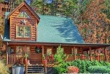 Pigeon Forge Cabins: 2-Bedroom / 2-bedroom rental cabins in Pigeon Forge, Tennessee in the Smoky Mountains. Luxury amenities, 2 baths, hot tub, jacuzzi, games, TV's, wifi - & mountains! Call us 24/7 at 855-95-SMOKY, let us match the cabin to your needs. http://www.CabinsOfTheSmokyMountains.com / by Cabins Of The Smoky Mountains