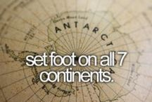 Bucket list ✈ / Places I want to go and things I want to do along the way / by Nikki Boyd