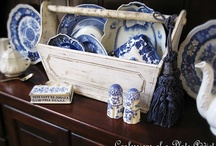 blue and white / by Rhonda Dean