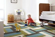 Nursery Inspiration | FLOR / Be inspired by everything from cozy blankets to whimsical rugs with these nursery room ideas.