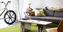 Designing: Small Spaces | FLOR / Who says small spaces can't have great design? A collection of inspiring small spaces that pack big design.