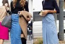 Estilismos con Falda Tejana / Looks e ideas para llevar una falda tejana