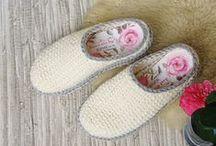 crochet.knit.slippers