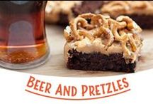 Beer & Pretzels / Beer and pretzels are a classic combo enjoyed at bars, tailgate parties, and cookouts worldwide. Here's some fun combo ideas to keep you in the loop. / by Snyder's of Hanover