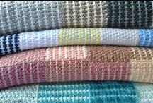 Flo's Blankets / Blankets I have knitted inspired by my late mother-in-law, who rarely was far from her knitting needles.