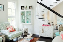 Home: Living / Living room, stairs, and hallway decor.