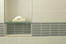 Bathroom Shower / Travertine and...accent ideas