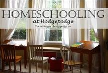 Homeschool / I homeschool five children from preschool to high school http://hodgepodge.me/category/hmscl/ / by Tricia Hodges