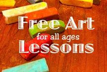Free Art Tutorials and Lessons / Free art lessons by Nana in chalk pastel and acrylic paint at Hodgepodge. You ARE an Artist: http://hodgepodge.me/category/hmscl/pttl/ / by Tricia Hodges | Hodgepodge