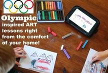 Olympics / Resources for The Olympic Games - art projects, crafts, homeschool plans and unit studies, recipes and more! Celebrate The Summer or Winter Games with art with our video art lessons: https://www.chalkpastel.com/?s=games&post_type=product