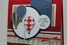 Cards - Whimsical / Umbrellas, pinwheels, kites