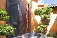 Outdoor Showers / Who doesn't love an outdoor shower?