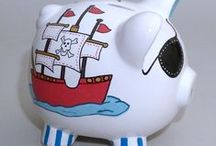 Pirates / Terrific ideas for pirate themed baby gifts, nursery decor, and birthday parties.