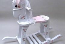 Let's Rock! / Personalized and hand painted rocking horses and rocking chairs, plus some great photos and first birthday ideas.