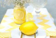 farbwelt gelb / Farbinspirationen für Brautpaare zur Hochzeit  zusammengestellt von www.suess-und-salzig.de