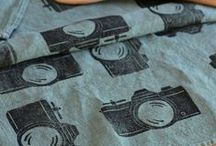 handprinted fabric / pictures of my own handprinted fabric, inspirations from others, and helpful hints/tutorials