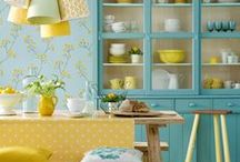 Sunshine Yellow / Want to wake up a room?  Add a dose of yellow.
