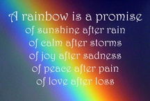 OVER THE RAINBOW / THERE IS NO RAINBOW WITHOUT THE RAIN / by Jaimie Addesso