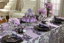 Tablescapes, Purple. Indian Wedding Inspirations / Indian Weddings Inspirations: Purple Tablescapes