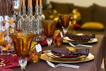 Tablescapes, Gold. Indian Weddings Magazine / Indian Weddings Inspirations: Gold Tablescapes