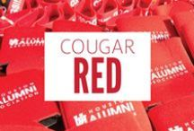 Cougar Red / On Fridays we wear red! This board shows our Coog pride seven days a week!