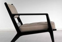 Furniture / Wood, leather, cotton, wool, glass, shape, texture, smell...
